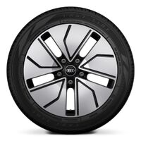 Wheels, 5-segment aero, black, high-sheen