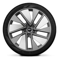 Wheels, 10-spoke trapezoidal module, platinum gray, glossy finish