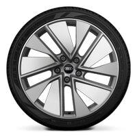 Wheels, 10-spoke trapezoidal module, titanium gray matt, glossy finish