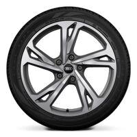 Wheels, 5-twin-spoke offset, platinum gray