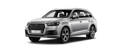 Front shot of the new 2019 Audi Q7 Model.
